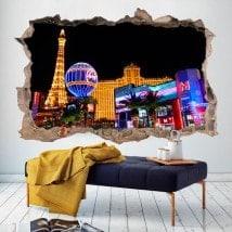 Parete del foro 3D vinile Las Vegas