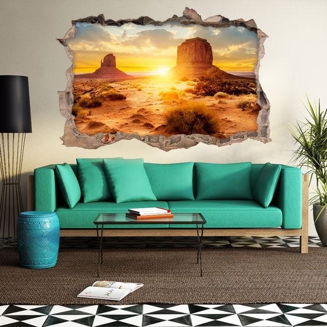 Vinyl tramonto 3D nel deserto Italian 5633