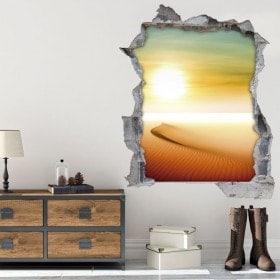 Vinile 3D del sole nel deserto