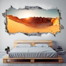 Deserto di panoramiche 3D vinile