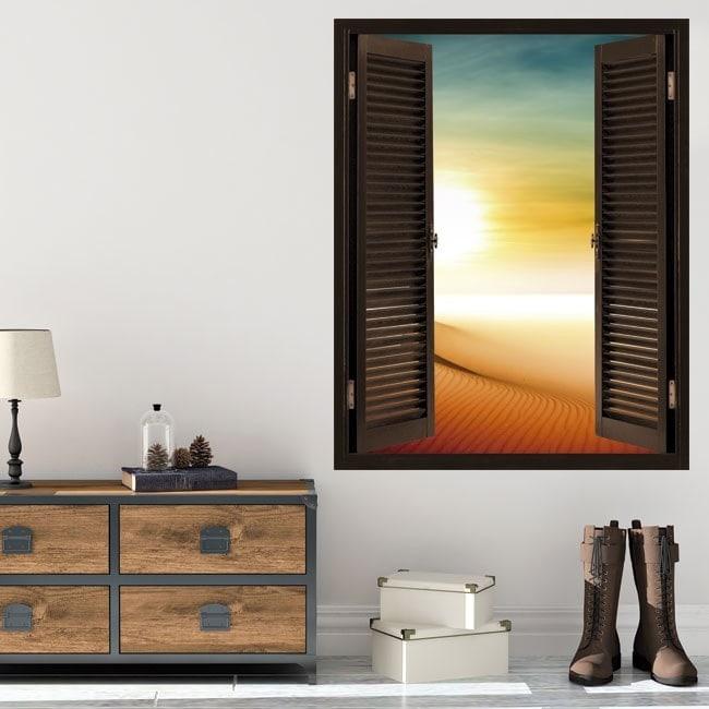 Windows 3D sole nel deserto