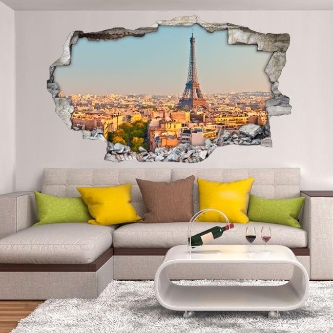 Parete del foro vinile Parigi Torre Eiffel