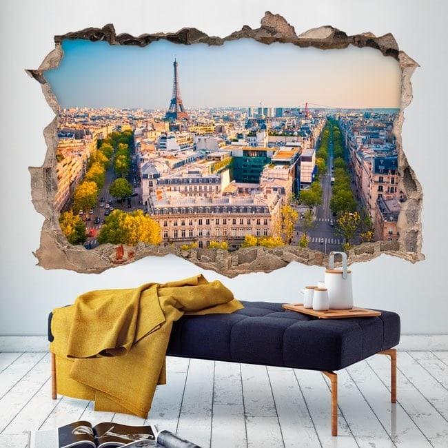 Parete in vinile rotto Parigi