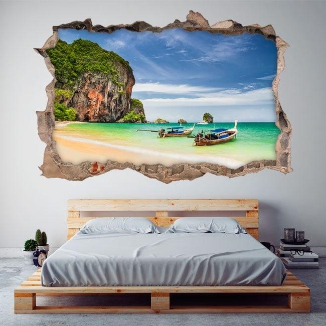Vinile 3D spiaggia Railay Thailandia