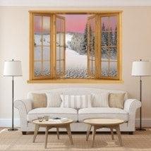 Montagne dello snowy in vinile Windows