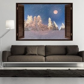 Montagne di inverno nevoso Moon 3D Windows