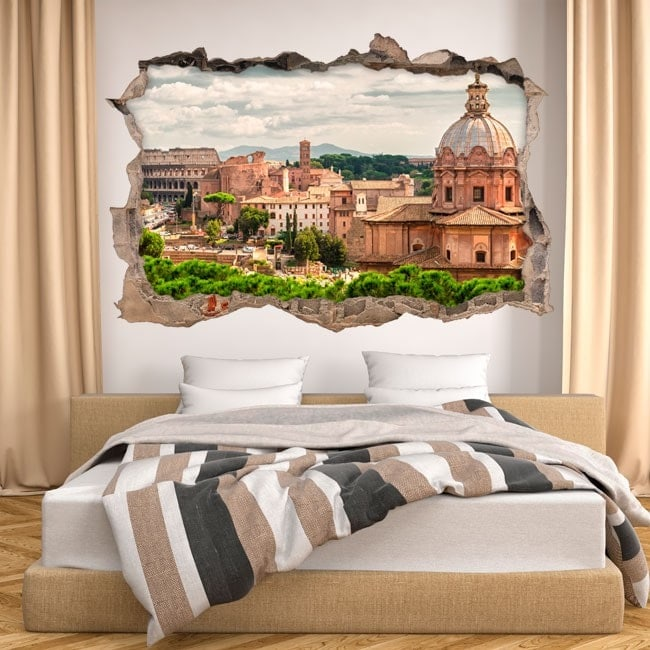Vinile 3D Foro Romano e Colosseo