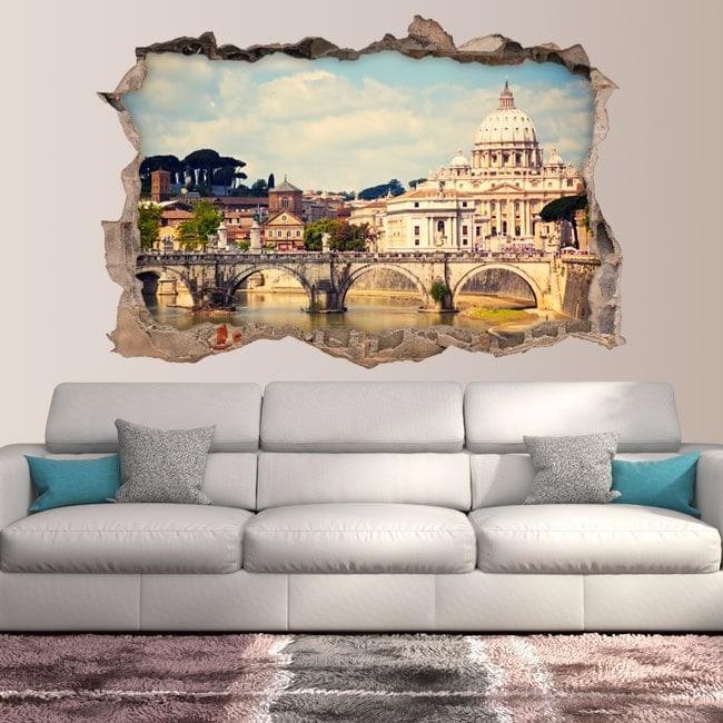 Vinile 3D Ponte Sant'Angelo e la Basilica di San Pedro