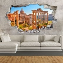 Rovine romane 3D vinile in Roma