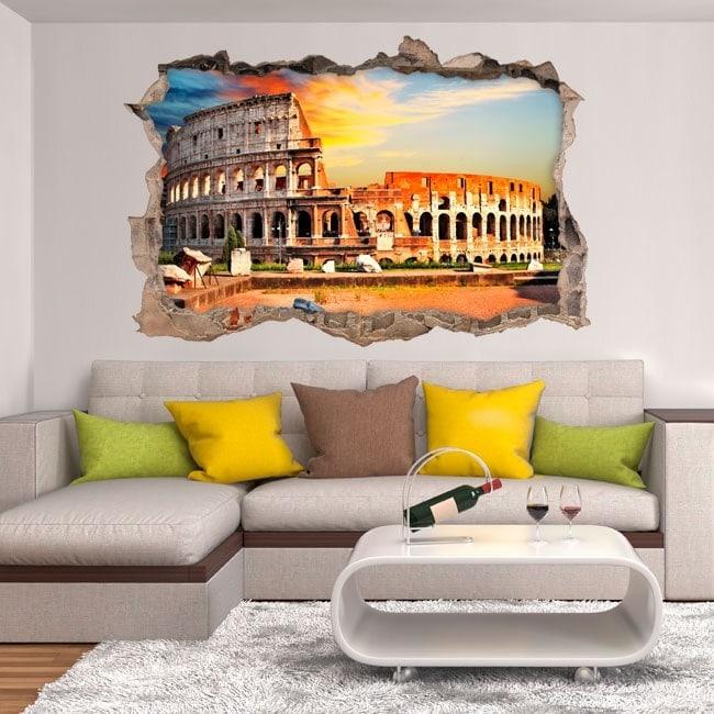 Vinile parete-rotta Colosseo Roma 3D
