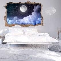 Vinile parete-rotta Luna 3D