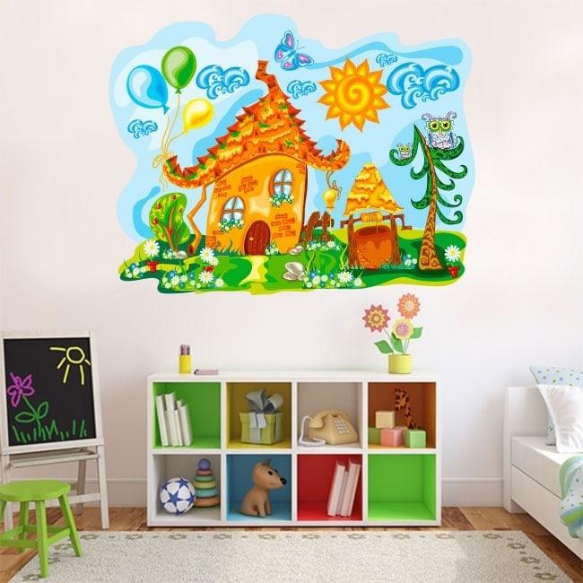 Natura in vinile per bambini casa