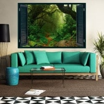 Natura magica 3D windows di vinile