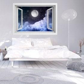 Finestre in vinile completo Luna 3D