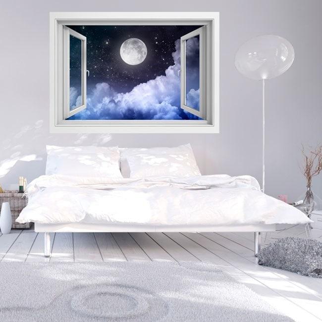 Finestre in vinile completo Luna 3D Italian 5734