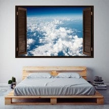 Vinile windows nuvole nel cielo