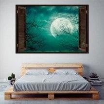 Finestre in vinile completo Luna 3D Italian 5742