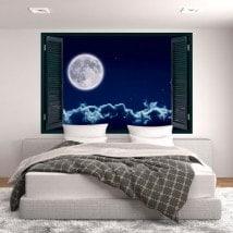 Finestre in vinile 3D full moon