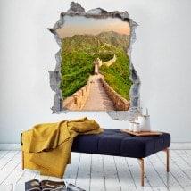 Vinile 3D grande muraglia della Cina