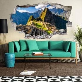 Parete del foro 3D vinile Machu Picchu