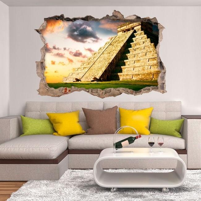 Vinile 3D Piramide Chichen Itza