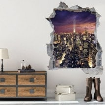 Vinyl tramonto 3D a Manhattan New York