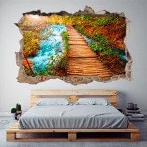 Vinile 3D parete-rotta come natura