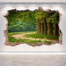 Alberi e vinile pareti 3D strada