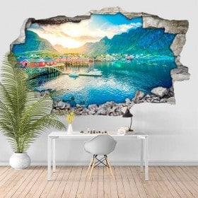 Vinile tramonto Norvegia 3D