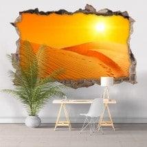 Vinyl tramonto 3D nel deserto Italian 5812