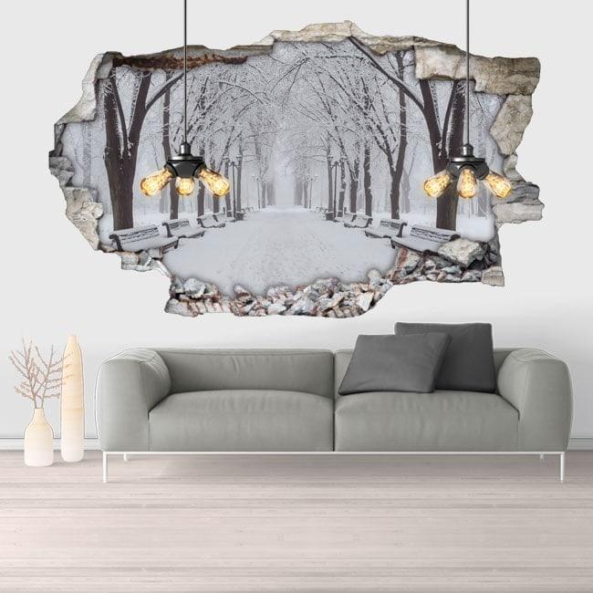 Parco di neve 3D vinile
