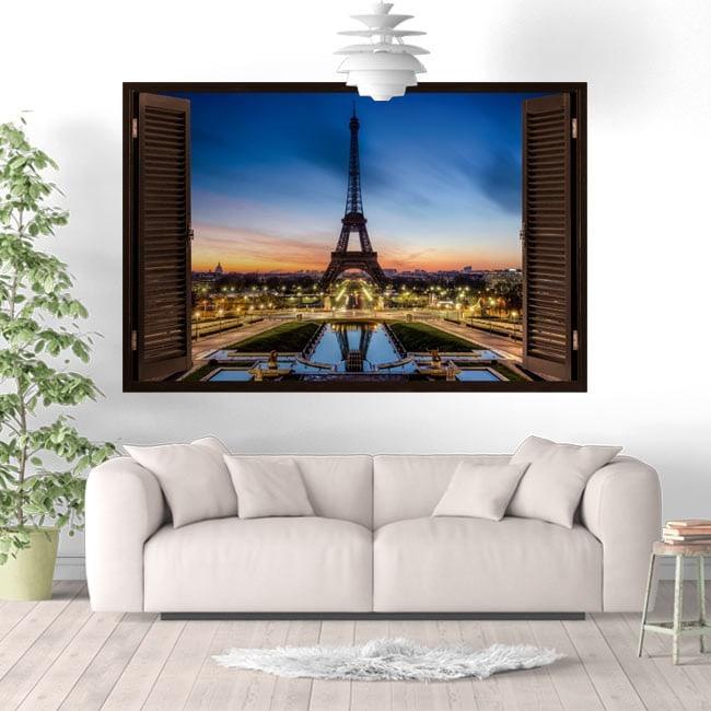 Vinyl Windows Parigi Tour Eiffel