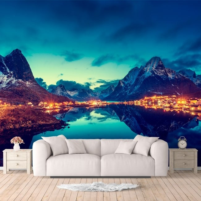 Fotomurali Reine isole Norvegia
