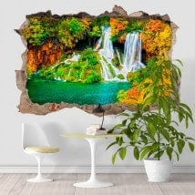 Natura di vinile 3D cascate