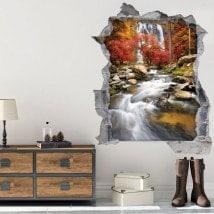 Cascata 3D vinile in autunno