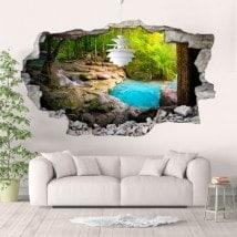 Natura e vinile 3D cascate