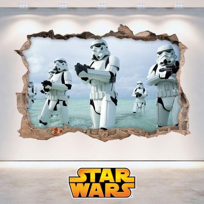 Adesivi da parete Star Wars 3D Italian 5881