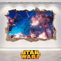 Parete in vinile 3D di Star Wars