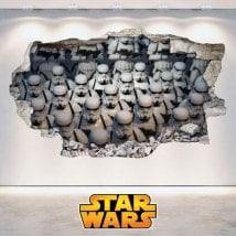 Adesivi 3D Star Wars soldati cloni