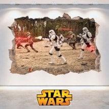 Star Wars adesivi foro parete 3D