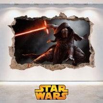 Star Wars adesivi 3D Kylo Ren