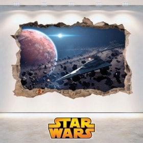 Pareti di vinile Star Wars 3D del foro