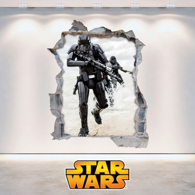 Adesivi da parete Star Wars 3D Italian 5893