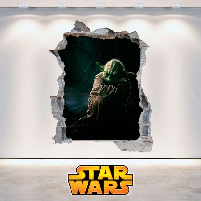 Parete in vinile 3D Star Wars Yoda