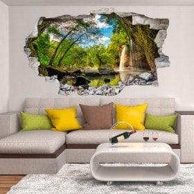 Montagne di Cascades decorative vinile 3D