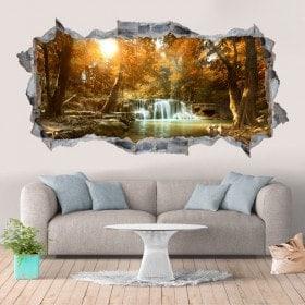 Vinile decorativi cascate e natura 3D