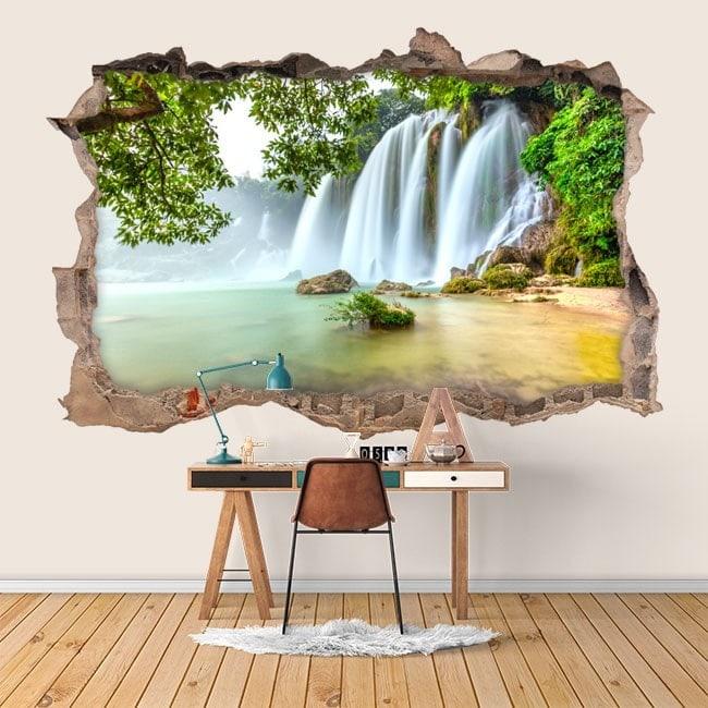 Natura di Cascate di vinile parete 3D