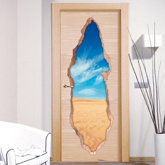 Porte di vinile deserto 3D