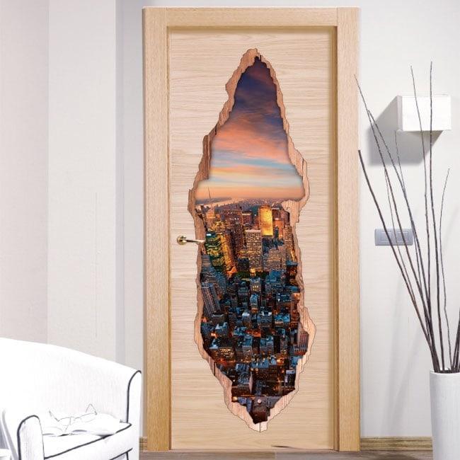 Porte di vinile 3D di New York