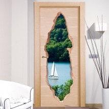 Vinile 3D porte vela Lago